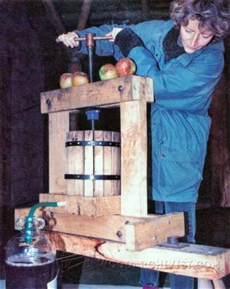 diy cider press woodarchivist