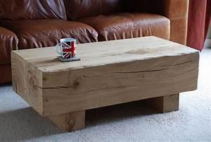 oak sleeper furniture beam coffee table With oak beam coffee table