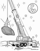 Crane Coloring Pages Truck Construction Drawing Drag Printable Tower Attic Drawings Cartoon Sketch Getdrawings Racer Illustration Sheet Template Worker sketch template