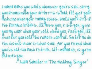 Adam Sandler We... Adam Sandler Wedding Quotes