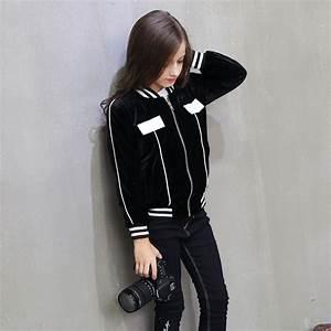 2016 Sport Style Black Kids Jackets for Girls Outerwear ...