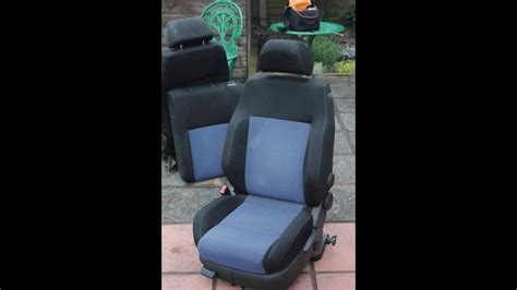 removing replacing front seat covers  vw golf mk