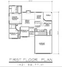 ranch floor plans with basement 1421sf ranch house plan w garage on basement