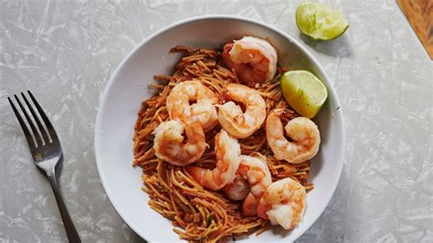 Spicy Pasta With Shrimp And Tomatoes Recipe Bon Appétit