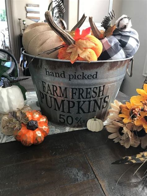 5 out of 5 stars (1,286) $ 50.00 free shipping only 1 available and it's in 2 people's carts. Galvanized Bucket Makeover | Holiday Design on a Dime | Galvanized buckets, Fall decor ...