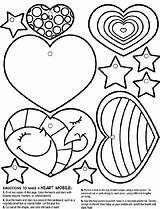 Heart Crayola Mobile Coloring Pages Hearts Valentine Cut Sheets Stars Adult Different Colouring Valentines Adults Colored Ribbons Printables Glue Box sketch template
