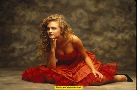 Young Heather Graham sexy posing for magazines