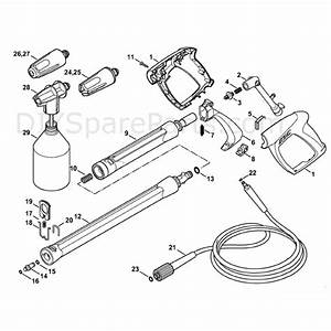 Stihl Re 98 Pressure Washer  Re 98  Parts Diagram  Spray Gun