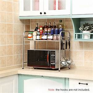 Aliexpress, Com, Buy, Multifunctional, Stainless, Steel, Microwave, Oven, Rack, Shelf, Spices, Jars