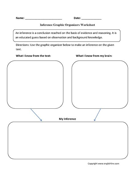 graphic organizers worksheets inference graphic