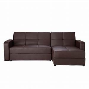 Brand new leather corner sofa bed sofabed chaise with for Sectional sofa bed with storage chaise