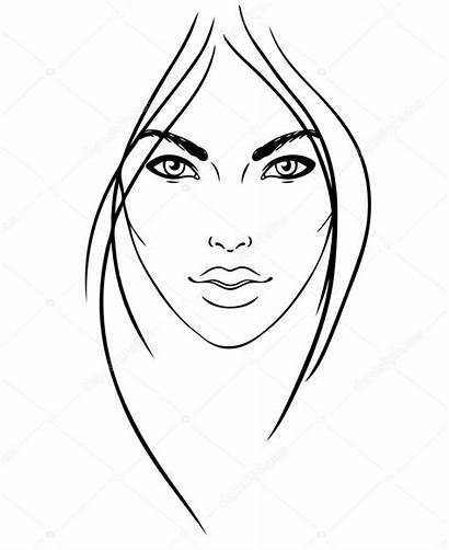 Face Makeup Blank Chart Artist Drawing Template