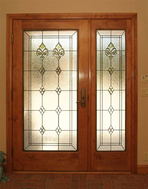 door window panel stained glass doors scottish stained glass