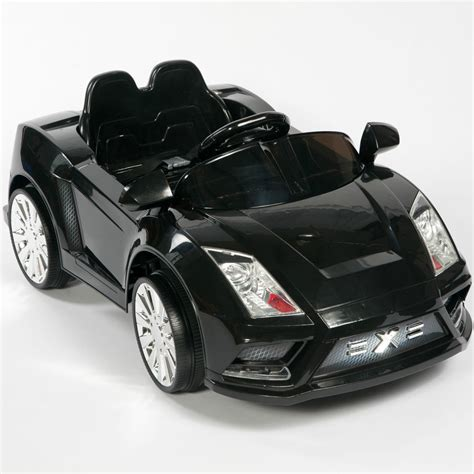 What Powers Electric Cars by Racer X Black 12v Ride On Car Electric Power Wheels