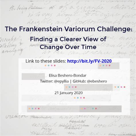 Frankenstein Variorum: January 2020
