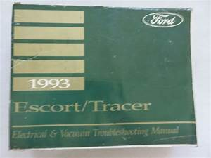 1993 Ford Escort Tracer Electrical Wiring Diagrams Service