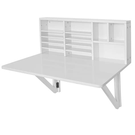 wall mounted drop leaf desk sobuy folding wall mounted drop leaf table desk with