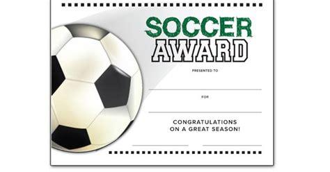 soccer   season award certificate