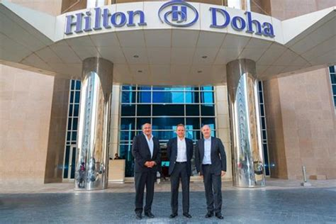 hilton worldwide leadership team visits qatar qatar
