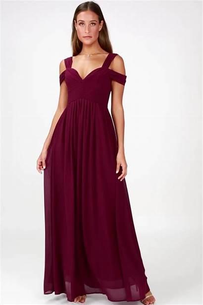 Burgundy Maxi Blush Pink Bridesmaid Move Dresses