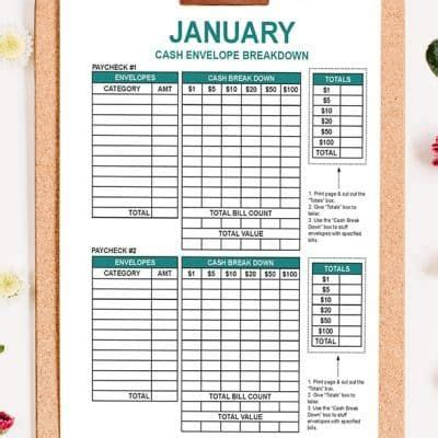budget  paycheck workbook budgeting monthly