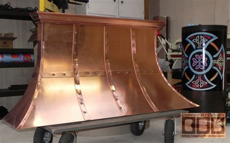 CBD's Custom Copper Sheet Metal Range Hood Work Page