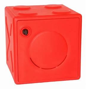 Casier De Vestiaire : ooncub casier vestiaire empilable 45 x 45 cm rouge ~ Edinachiropracticcenter.com Idées de Décoration