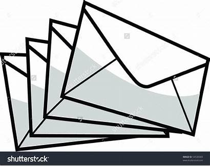 Envelopes Clipart Envelope Pile Vector Clipground Closed