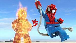 HUMAN TORCH (FANTASTIC FOUR HERO) VS SPIDER-MAN - BATTLE ...