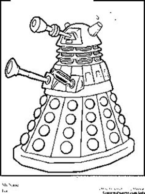 Doctor Who Dalek Free Coloring Pages