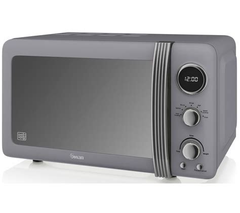 Buy SWAN Retro SM22030GRN Solo Microwave   Grey   Free