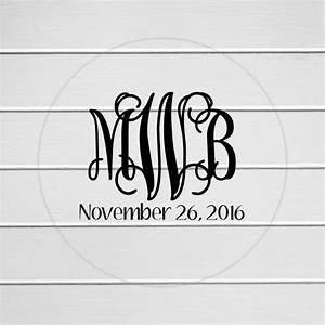 monogram sticker clear transparent monogram stickers With clear letter stickers