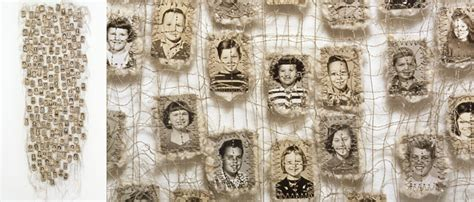 Lisa Kokin  Sewn Found Photo Art