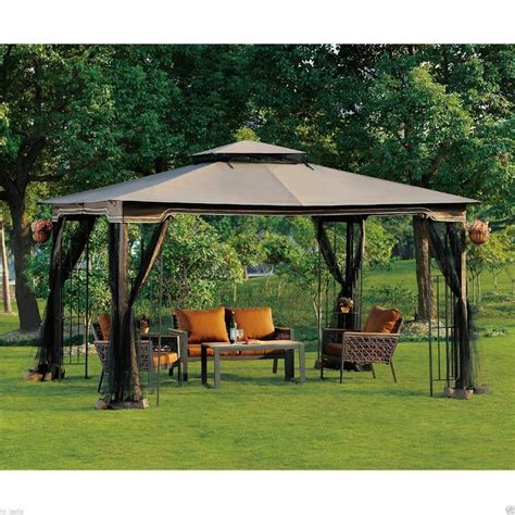 backyard gazebo outdoor gazebo with netting canopy backyard pergola 10 x