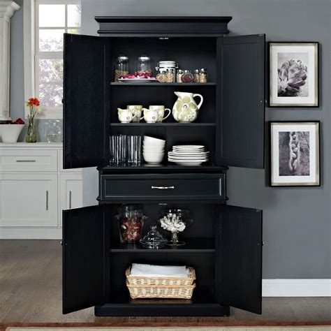 black kitchen pantry cabinet crosley parsons black storage cabinet cf3100 bk the home 4709