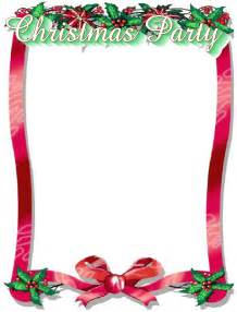 Free Christmas Party Borders