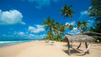 Sri Lanka Ocean Tropical Indian Beaches Sand