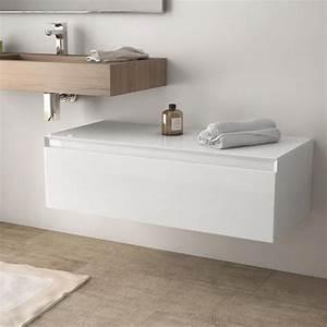 Meuble 100 Cm : meuble de rangement 100 cm blanc brillant aragon ~ Teatrodelosmanantiales.com Idées de Décoration