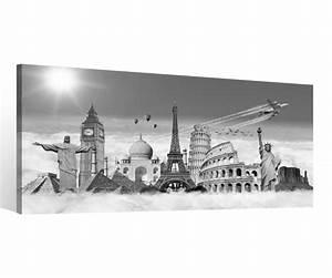 Bild New York Schwarz Weiß : leinwand 1 tlg europa skyline schwarz wei paris berlin rom new york bild 9c122 holz fertig ~ Bigdaddyawards.com Haus und Dekorationen