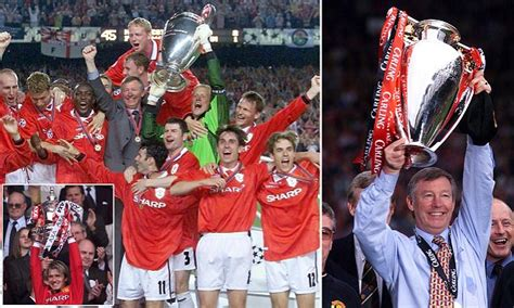 manchester uniteds treble triumph  years   alex