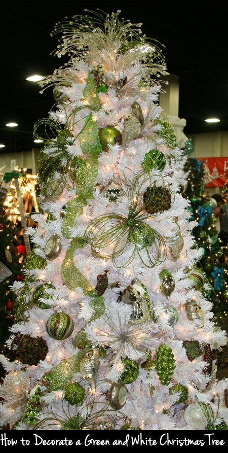 White Tree Decoration Ideas - how to decorate a green and white tree