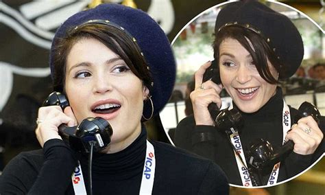 Gemma Arterton takes calls at ICAP Charity Day in London ...
