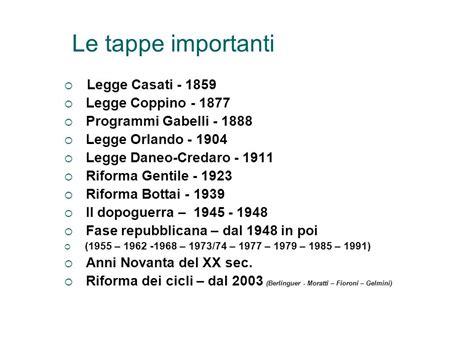 Legge Casati by Breve Storia Della Legislazione Scolastica Italiana Ppt