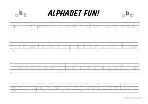 alphabet writing practice worksheet free esl printable