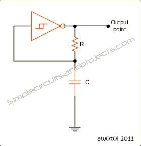 Astable Multivibrator Circuit Using Schmitt Trigger