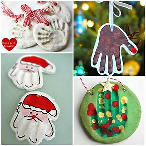 Homemade Salt Dough Handprint Ornaments Crafty Morning