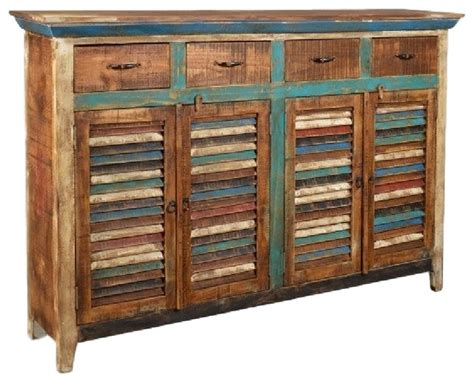 Painted Pony Distressed Sideboard