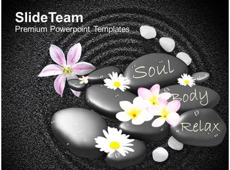 spa massage stones  flowers  beautiful powerpoint