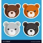 Bear Vector Icons Vectorstock Royalty Vectors