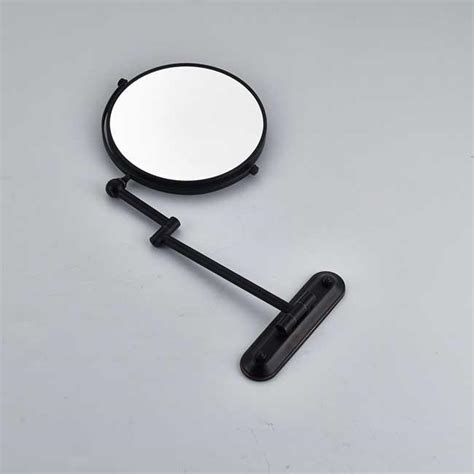 wall mounted bathroom brass dual arm extend make up mirror